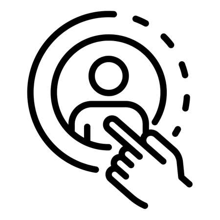 Avatar restructuring icon, outline style