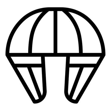 Skydiving parachute icon, outline style Illustration