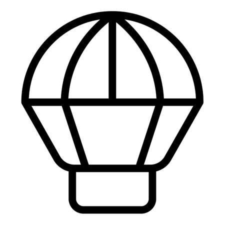 Extreme parachute icon, outline style