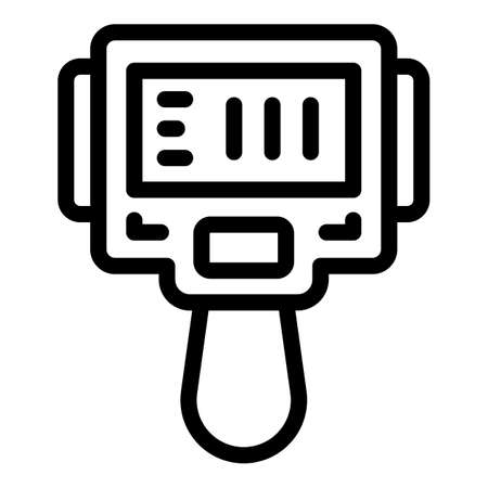 Camera thermal imager icon, outline style