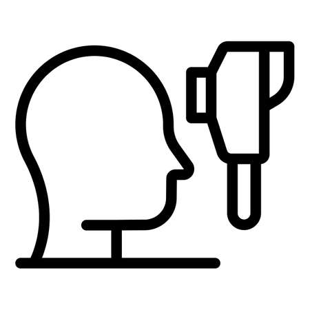 Human thermal imager icon, outline style Vecteurs