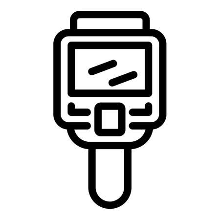 Analysis thermal imager icon, outline style