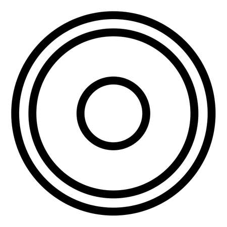Greco-roman wrestling mat icon, outline style