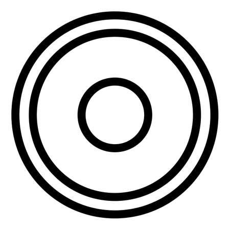 Greco-roman wrestling mat icon, outline style Vektorové ilustrace
