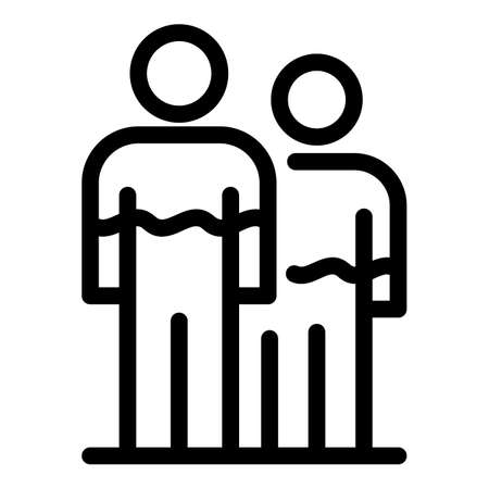 People hormones icon, outline style
