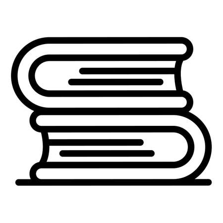 Inclusive education book stack icon, outline style