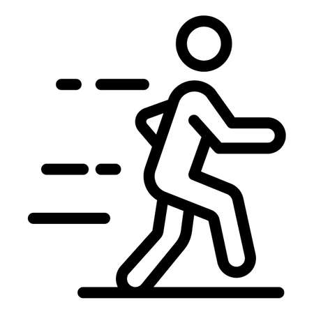 Training man icon, outline style