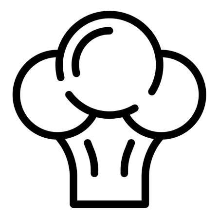Broccoli icon, outline style Illusztráció