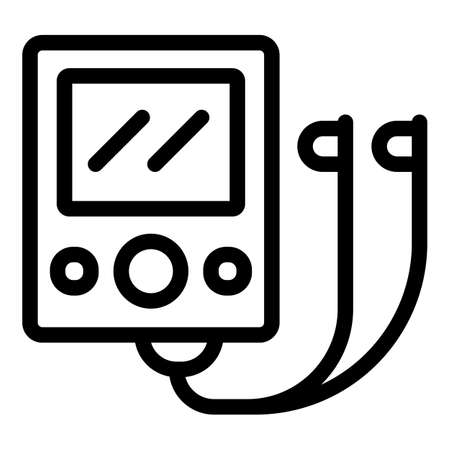 Gadget player icon, outline style