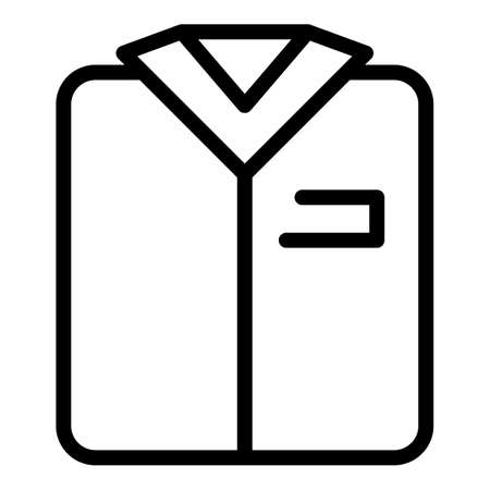Clear shirt icon, outline style