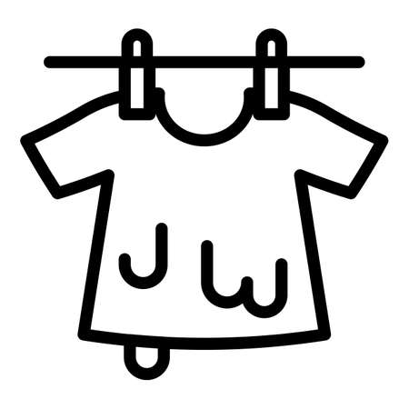 Hang dry icon, outline style