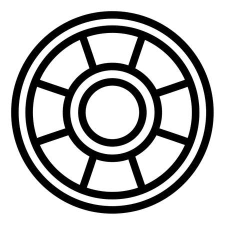Toy ring icon, outline style