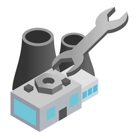 Thermal station icon, isometric style Stock Illustratie