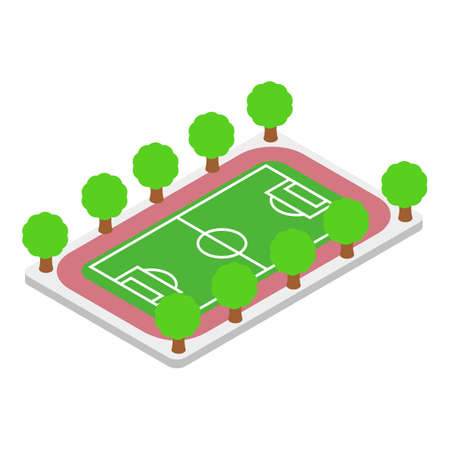 Football field icon, isometric style