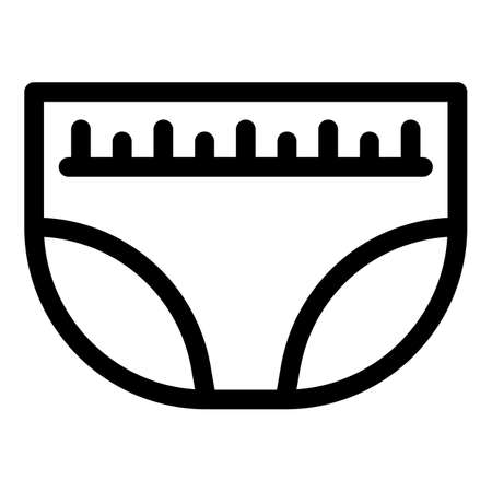 Night diaper icon, outline style 矢量图像