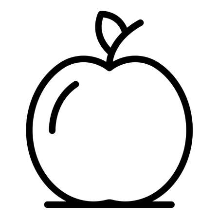 Inclusive education apple fruit icon, outline style