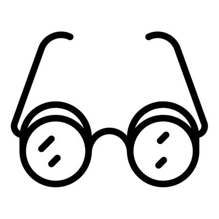 Inclusive education eyeglasses icon, outline style