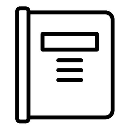 Inclusive education notebook icon, outline style