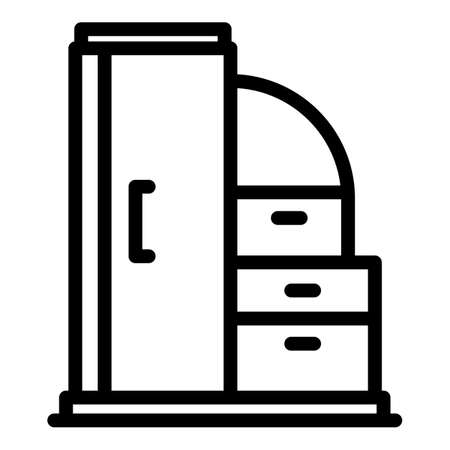 Dressing room icon, outline style