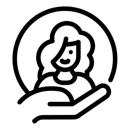 Woman empowerment avatar icon, outline style