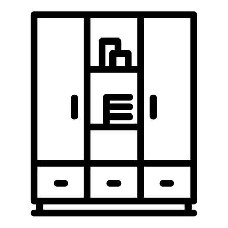 Wardrobe dressing room icon, outline style