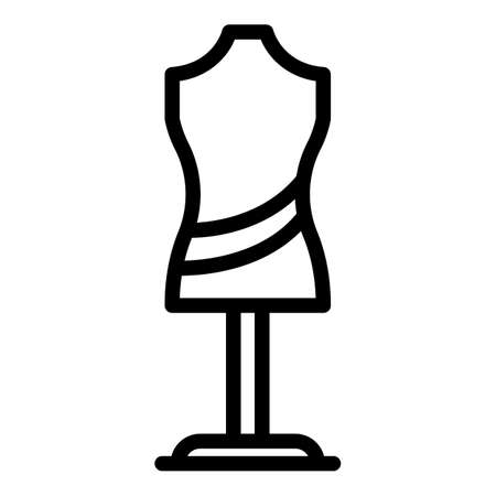 Clothes manequin icon, outline style Vettoriali