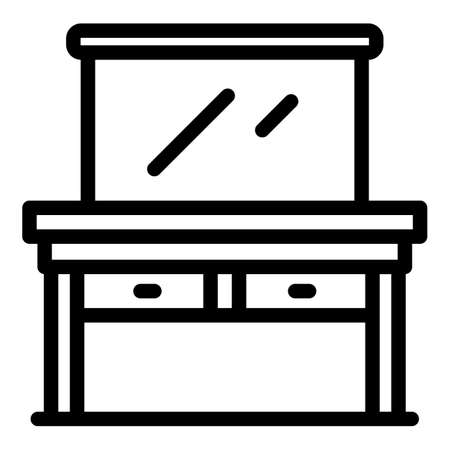 Dressing room furniture icon, outline style 矢量图像