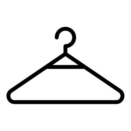 Clothes hanger icon, outline style