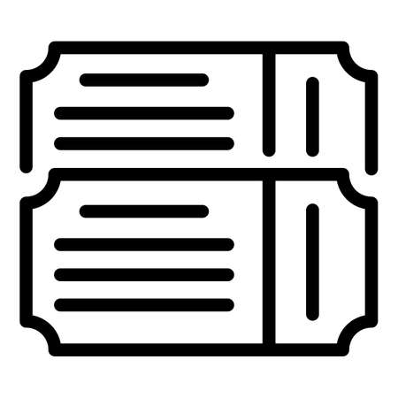 Museum tickets icon, outline style