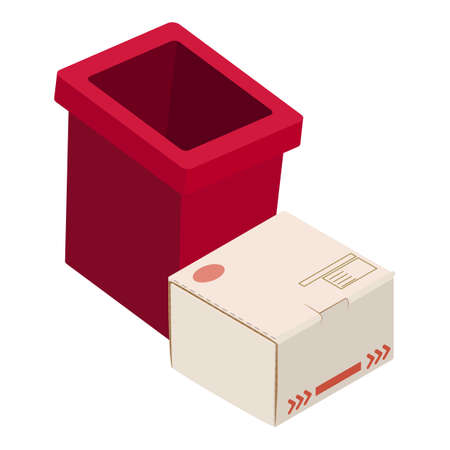 Recycling icon, isometric style