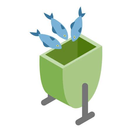 Waste food icon, isometric style