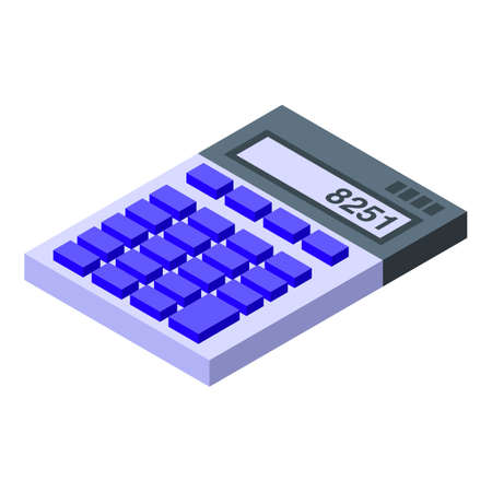 Calculator icon, isometric style