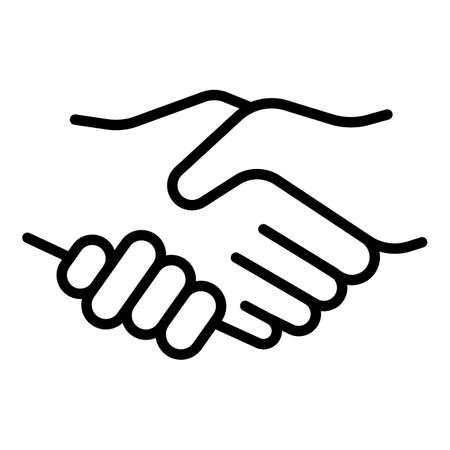 Gesture handshake icon, outline style