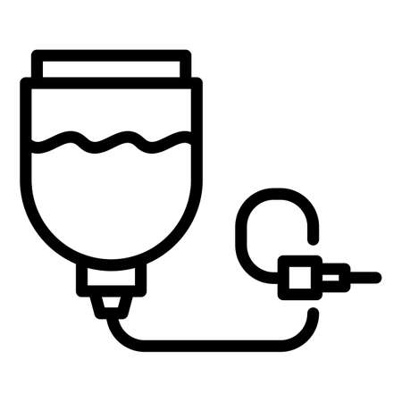 Medical drop pack icon, outline style