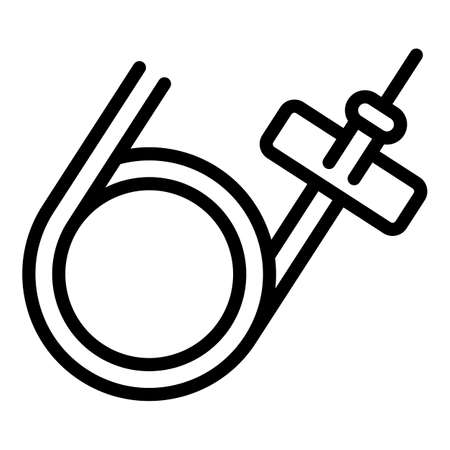 Medical catheter icon, outline style