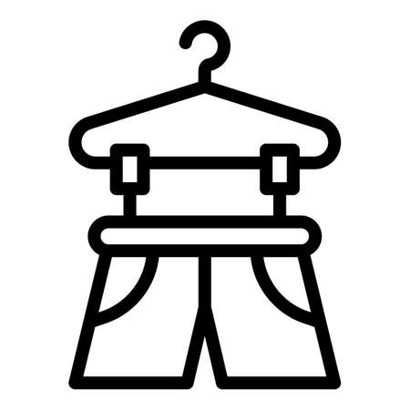 Drying pants icon, outline style