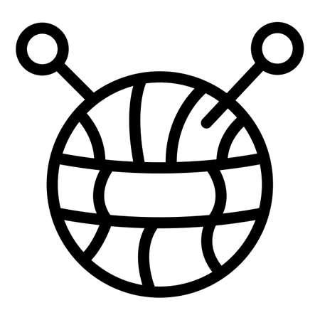 Knitting icon, outline style Illusztráció