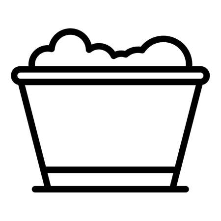 Fertilizer vase icon, outline style Ilustração