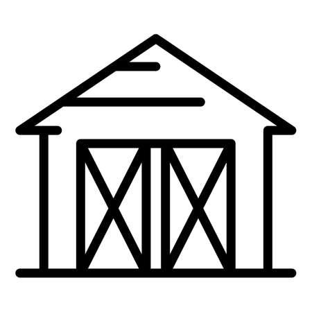 Fertilizing farm icon, outline style