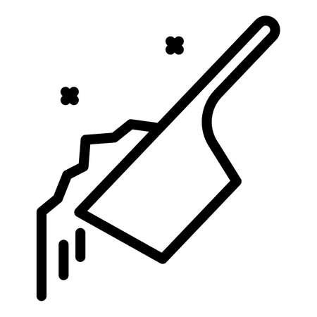 Bio fertilizer icon, outline style