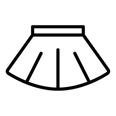 Ballet skirt icon, outline style