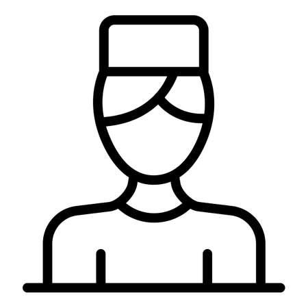 Medical nurse icon, outline style
