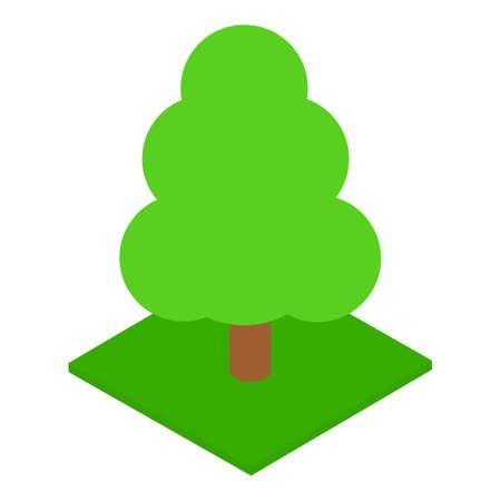 Tall tree icon, isometric style Ilustração