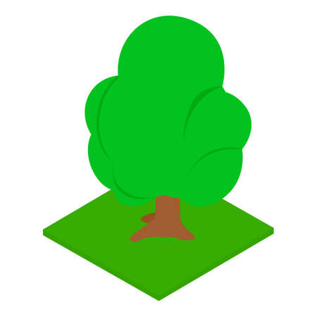 Abstract tree icon, isometric style