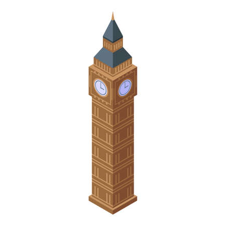 London tower icon, isometric style
