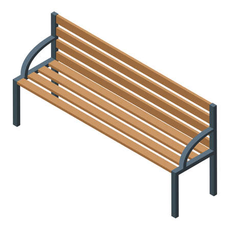 Nursing home bench icon, isometric style Иллюстрация