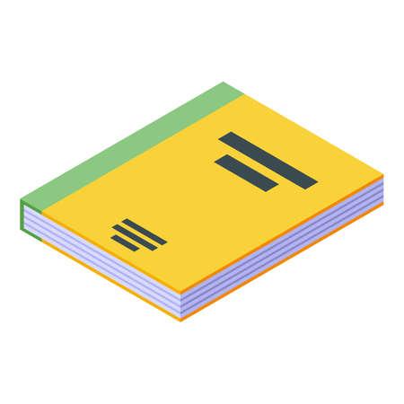 Nursing home reading book icon, isometric style