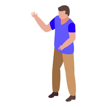 Nursing home man icon, isometric style Иллюстрация
