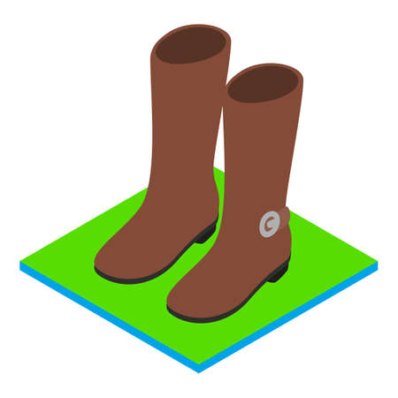 Demi boots icon, isometric style Vectores
