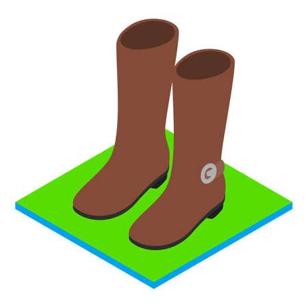 Demi boots icon, isometric style  イラスト・ベクター素材